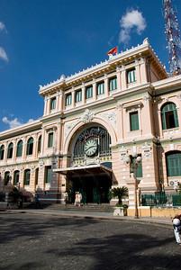 Facade shot of the Post Office - Saigon, Vietnam