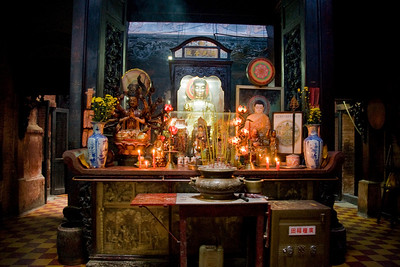 Shrine in Buddhist Temple - Saigon, Vietnam