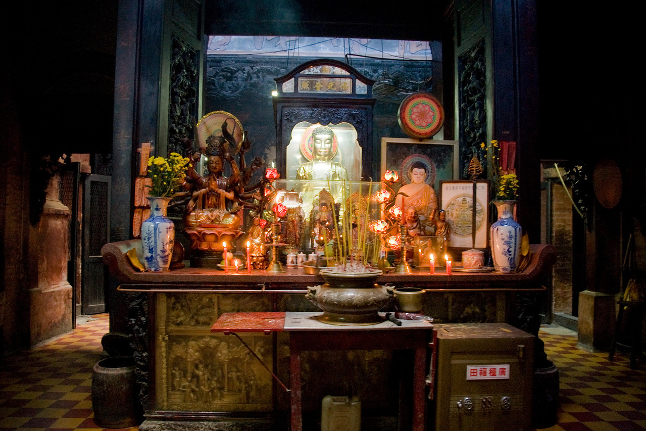 Shrine in Buddhist Temple - Saigon, Vietnam