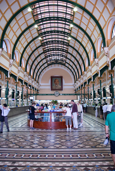 Inside the Post Office in Saigon, Vietnam
