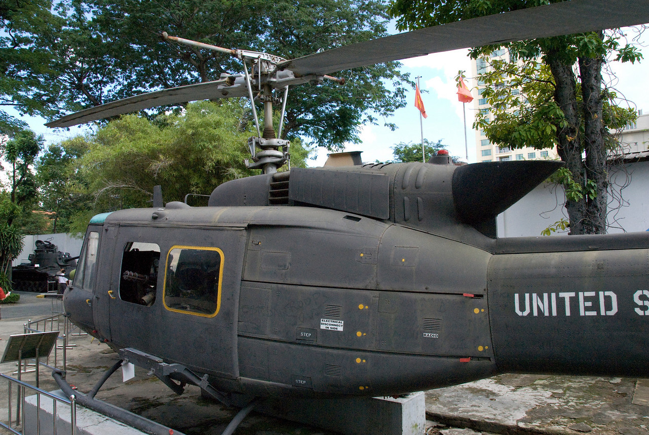 Helicopter at War Relics Museum - Saigon, Vietnam
