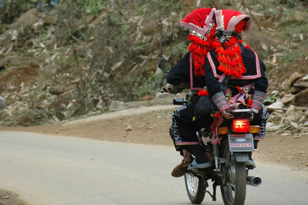 Women on a Motorbike - Sapa, Vietnam