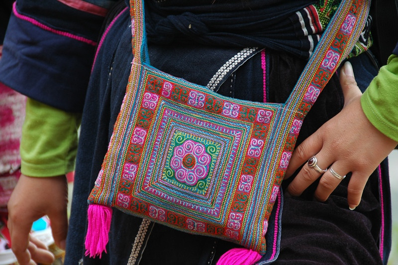 Embroidered Purse - Sapa, Vietnam
