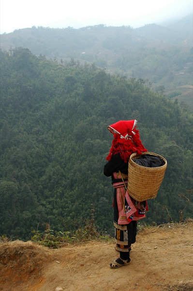 Red Dao Woman Looking Out - Sapa, Vietnam