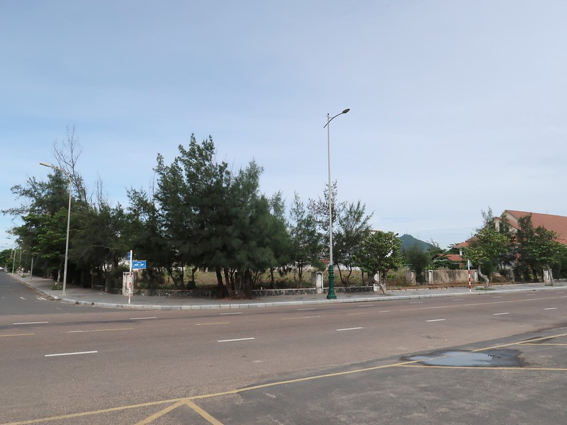 Cleared land at corner of Doc Lap and Ly Tu Trong