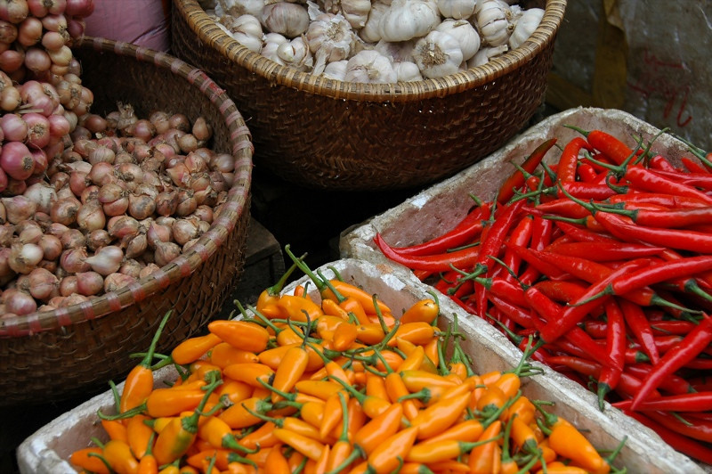 Chillies, Shallots and Garlic - Sapa, Vietnam