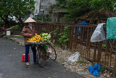 Local saleswoman in Hanoi