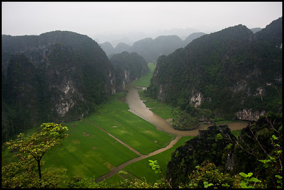 View of Tam Coc from Hang Mua Pagoda