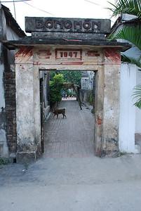 entrance to Thuy's girlhood home, Phat Diem, Ninh Binh