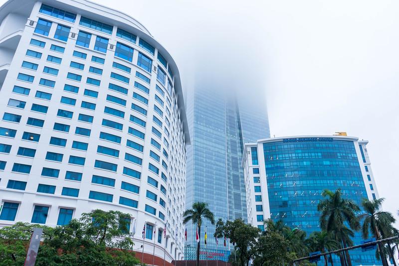 Never ending building in Hanoi