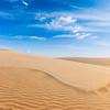 White sand dunes on sunrise, Mui Ne, Vietnam