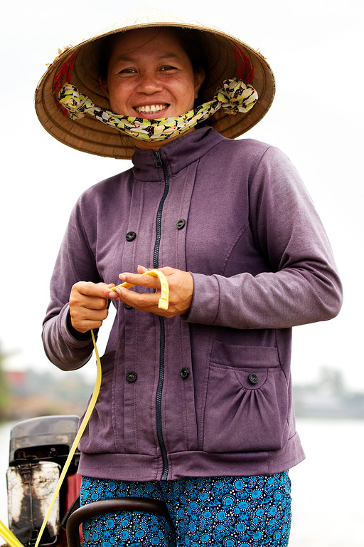 vietnamese mekong delta guide woman in conical hat