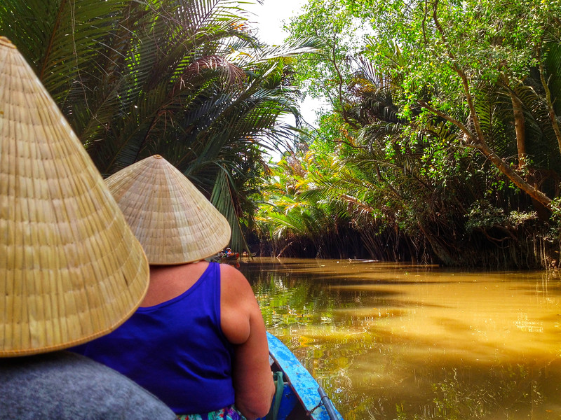 Sampan boat in the Mekong Delta