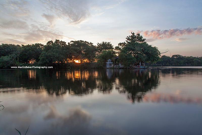 Da Vien Island and Perfume River, Hue, Vietnam.