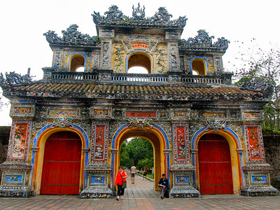Gate to the Imperial City in Hue, Vietnam