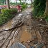 Biking through mud in Hanoi