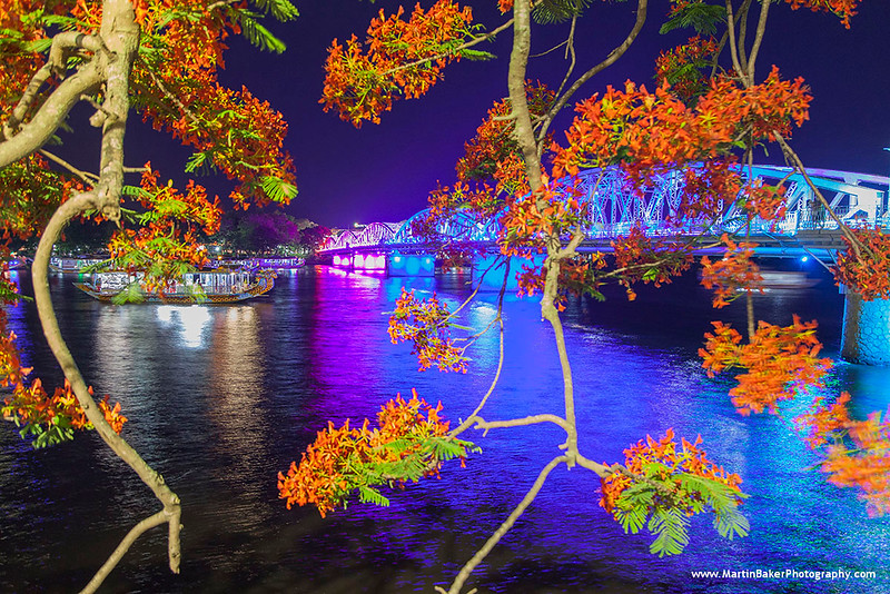 Truong Tien Bridge and Perfume River, Hue, Vietnam.