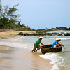 Two young men setting off from Phu Quoc Island to do some fishing.