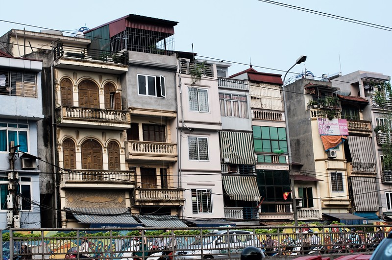 Typical houses at Hanoi city