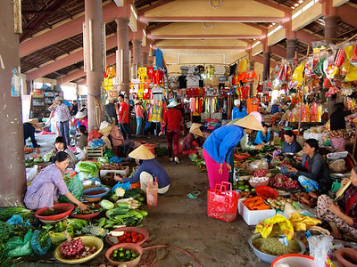Market in Hue, Vietnam