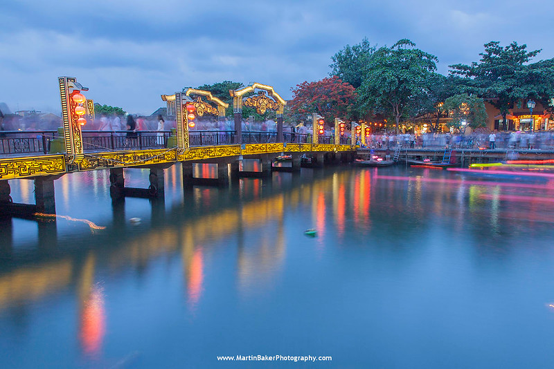 Lantern Bridge, Hoi An, Vietnam.