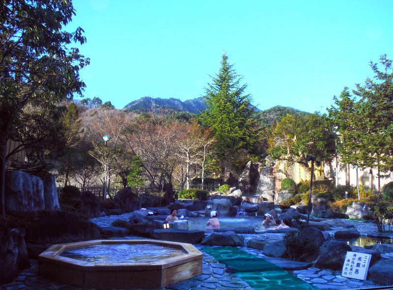 Mineral Pool Baths in Hotel Kisoji, near Tsumago