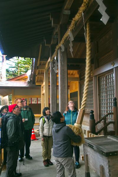 Yabuhara Shrine, Nakasendo Way, Ringing of the Bell