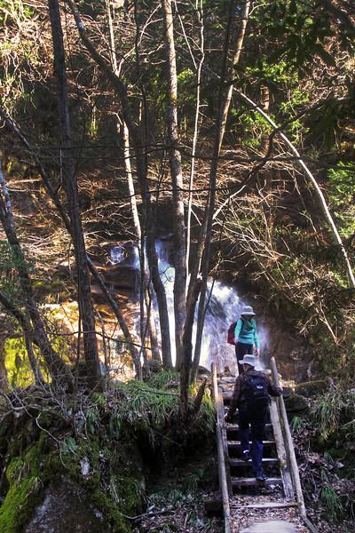 Odakimedaki Waterfalls on the Kiso Road from Magome to O-Tsumago
