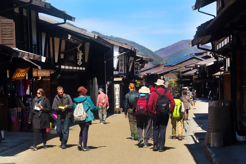 Our Tour Group Walking through the Post-Town of Narai