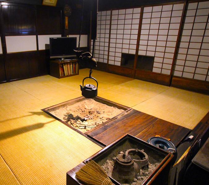 Hearth in 18th Century Maruya Inn, Tsumago