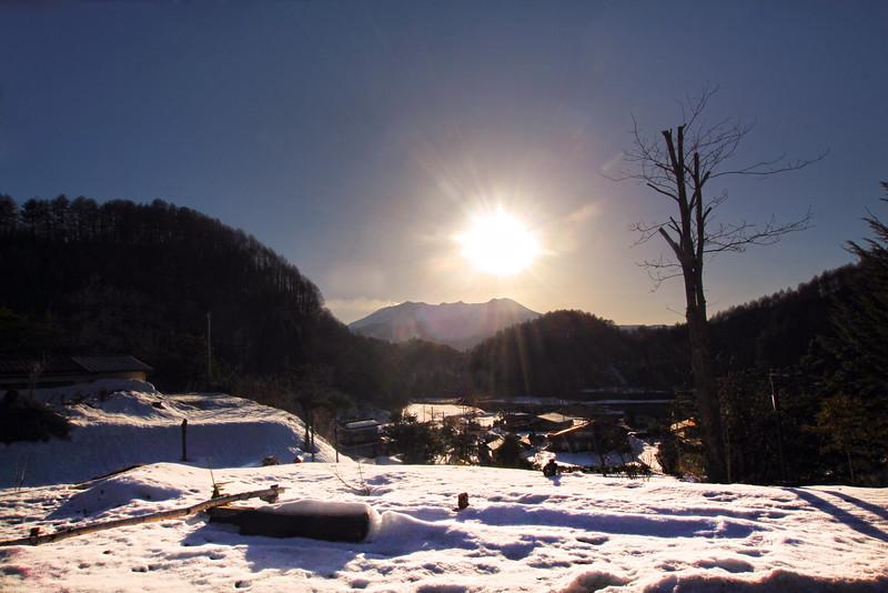 Sunset Over the Japanese Alps, Narai