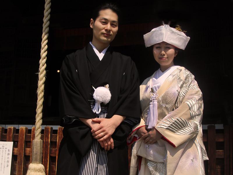 Matsumoto Bridal Couple, Shinto Temple
