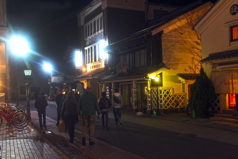 Matsumoto, View on Street from Hotel Kagetsu