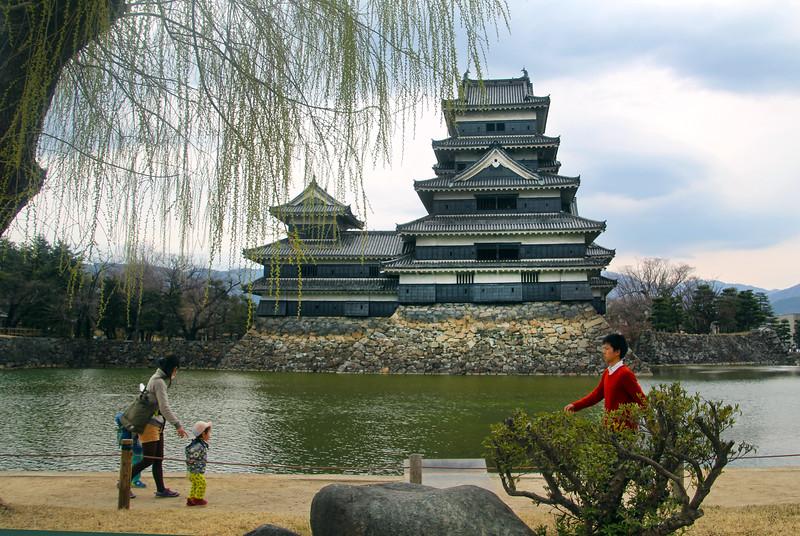 Matsumoto Castle Garden Path
