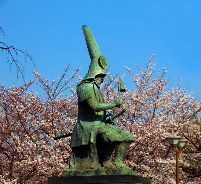 Emperor Kato Kiyomasa statue, Nagoya Castle