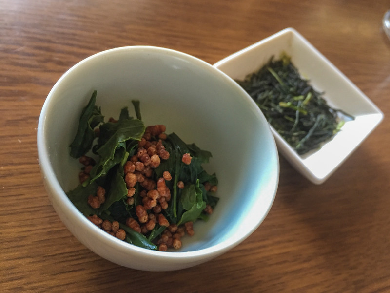 Sampling tea leaf salad | A tea plantation tour near Kyoto, Japan