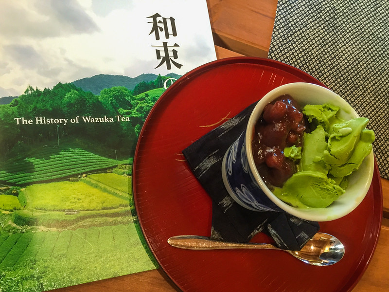Eating all the green tea sweets at Yamajin, Japanese tea cafe in Wazuka, Japan