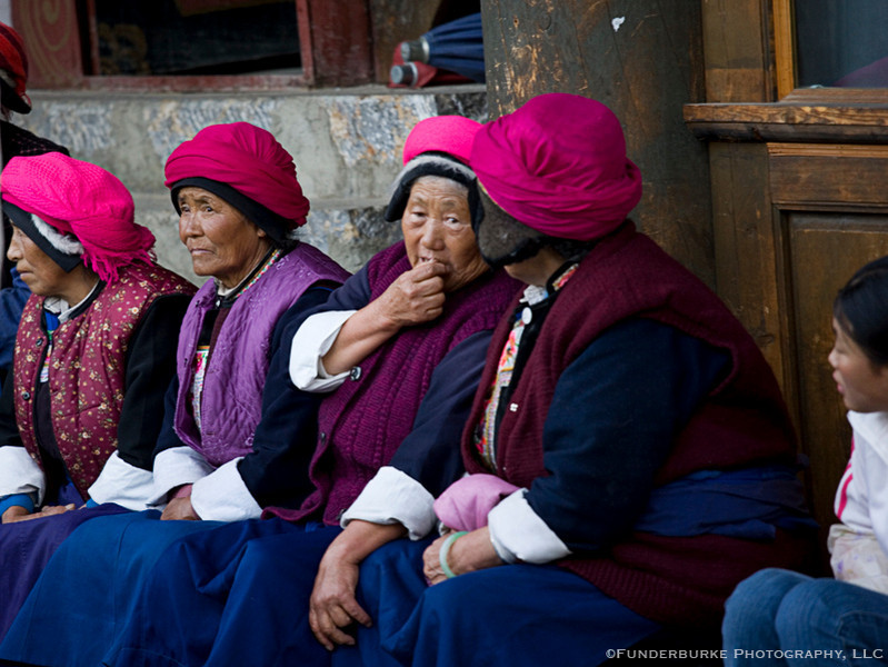 Tibetan Women - old town of Zhongdian