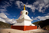 Stupa along the road to Tibet