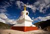 Stupa along the road to Tibet