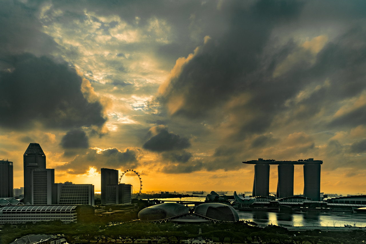 Singapore's Marina Bay at Dawn