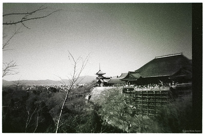 View on Main Hall, Kiyomizu-Dera temple, Kyoto, Japan