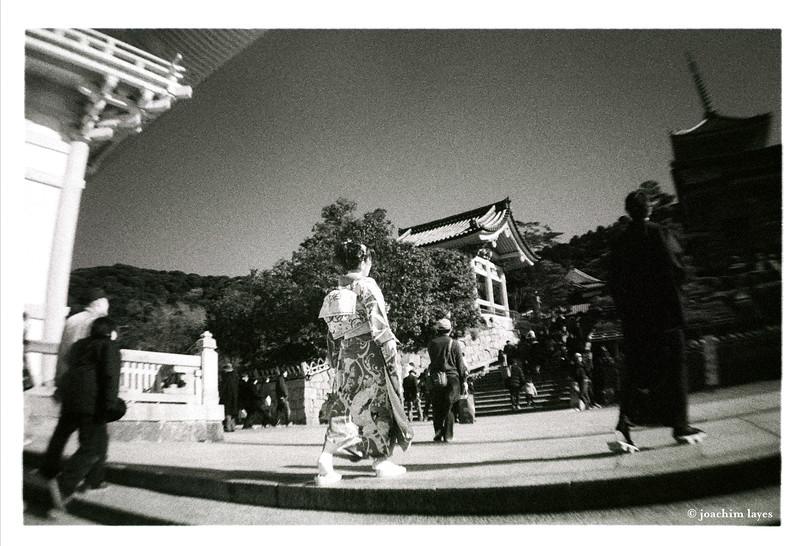Coming of Age Day, 成人の日, at Kiyomizu-Dera temple, Kyoto, Japan