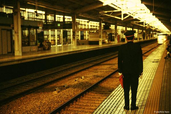 Waiting for the Shinkansen