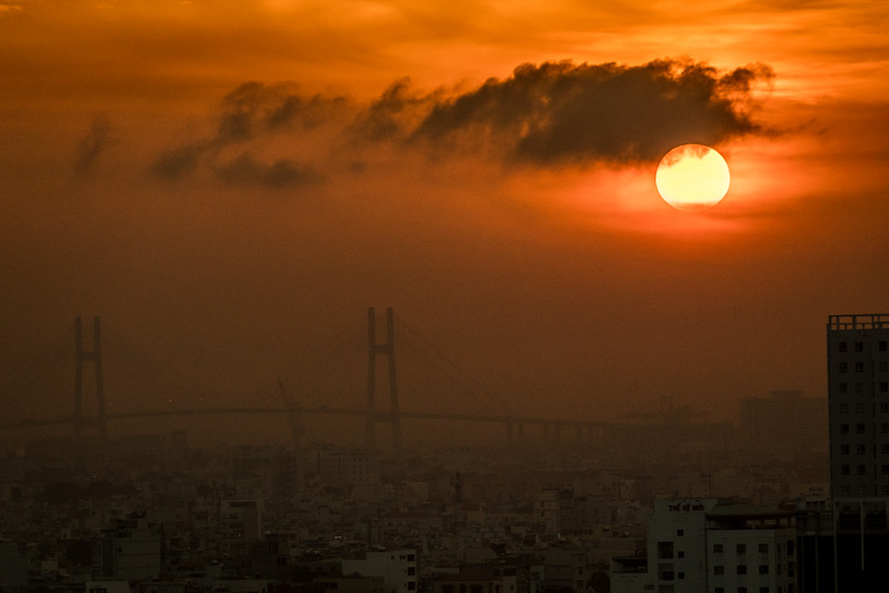 Saigon Sunrise over the Phu My Bridge
