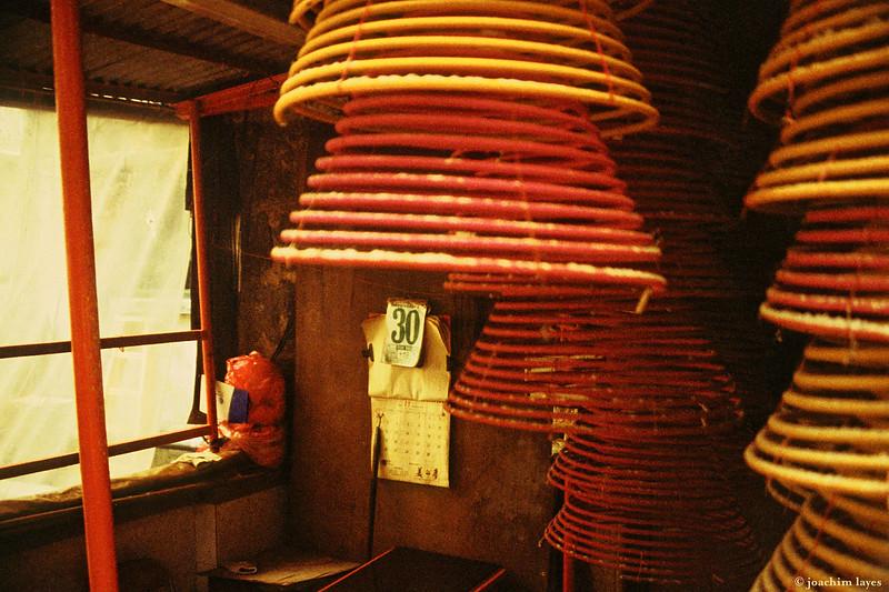 Incense coils in Sheung Wan, Hong Kong