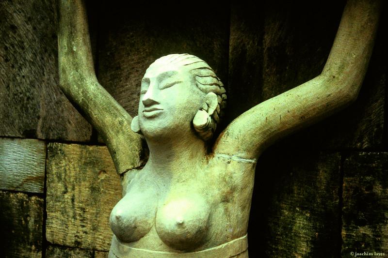 Indonesian women statue, Bali, Indonesia