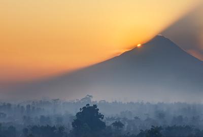 Sunrise on Mount Merapi