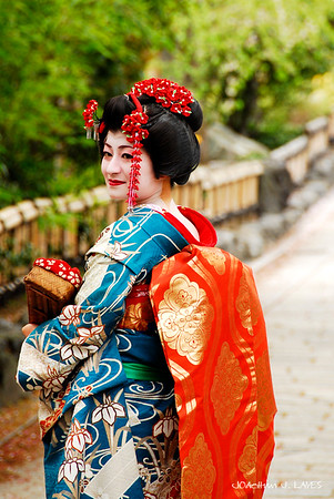 Geisha in Gion, Kyoto, Japan, 祇園