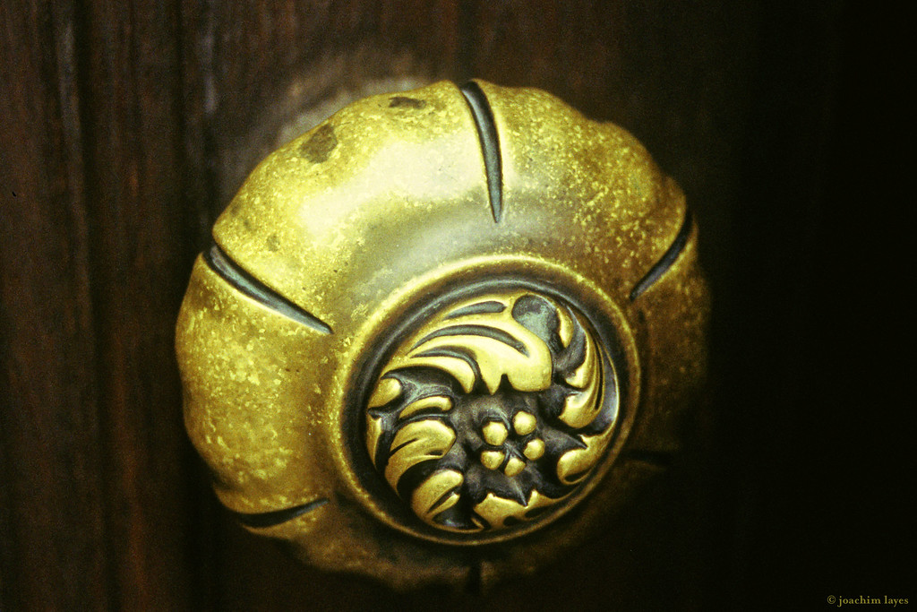 Door knob at a Japanese temple